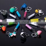 Lovely torch key chain hot sale high quality LED flashlight key chain bag accessories with laser pointer
