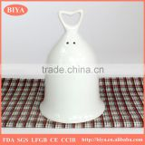 christmas ceramics bell white porcelain accept custom design, restaurant calling bell promotional ceramic dinner bell