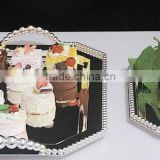 AN324 ANPHY European Style Fashion Cake Nut Snack Dessert Two Sizes Metal Plate Tray Stand Holder Display