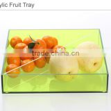 custom Acrylic/perspex / Plexiglass/PMMA Material clear acrylic candy tray,fruit dish,service tray with 4 dividers compartmennts