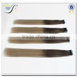 Wholesale top quality adhesive invisible tape hair extensions ombre color 100% virgin human hair                                                                                                         Supplier's Choice