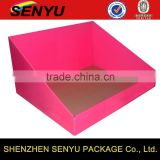 Products Display Quickly, pink and custom printed design, corrugated PDQ paper box packaging                                                                                                         Supplier's Choice