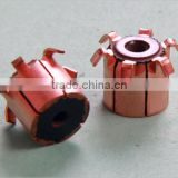 24 bars hook type silver copper OEM commutator JD005B China factory for Power tools,home appliance Auto motor