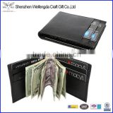 Men's Compact Lambskin Leather Bifold Front Pocket Metal Money Clip Wallet                                                                         Quality Choice