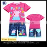 New Baby Girl Clothing Set Printed T-shirt and janes Pants Kids Casual Clothing Set For Girl