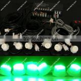 Emergency Construction Truck Vehicle 120W 6 LED Hide-Away Strobe Warning Light Kit-Green