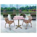 Outdoor aluminum frame bamboo garden furniture set