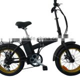 26*4.0 inch electric snow bike;48V 500W electric snow fat tire bicycle;Aluminum alloy fat bike
