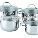 Healthy Stainless Steel Cookware/casserole in set(XM-1005CS)
