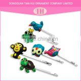 Fashion multifunctional custom cute animals designed chinese hair accessories resin material