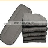 Fast Shipping Online Hot Sales Washable Eco-friendly Bamboo Charcoal Inserts of Baby Cloth Diaper