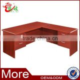factory price modern design L-shaped office table with lockable drawers F884