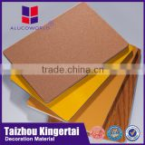 Alucoworld China leading home feeling interior acp 4x8 decorative pe coating gold aluminum composite