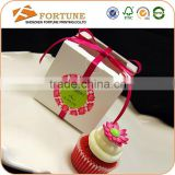 PVC Window Ribbon Packaging Paper Donut Packaging Box