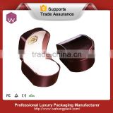 collection pillow dark brown smooth leather watch box