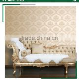 cheapest embossed non woven wallpaper, royal damask wall decor for tv background wall , fabulous wall sticker designs