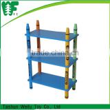 Crayon kids wooden bookshelf , fashion living room furniture wooden bookshelf