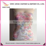 China Suppier Sexy Boob Tube Wholesale OEM Service Lace Printed Girls Waist Shaper Boob Top
