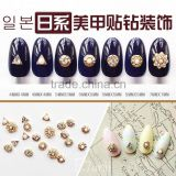 gold, silver 3D alloy rhinestone nail art jewelry factory supply high quality charm nail decoration                                                                         Quality Choice