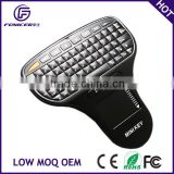 Handheld 2.4g mini gaming wireless keyboard with mouse touch pad