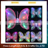 Wholesale double layer dance angel light up fairy butterfly wings kids led wings