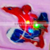 Printing PVC spider Cartoon Sticker Lighted Kid Led Cartoon T shirt sticker