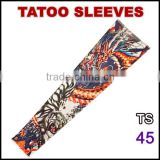 TS45 Favorites Compare 92% nylon and 8% spandex multi colors customized logo arm tattoo sticker sleeves