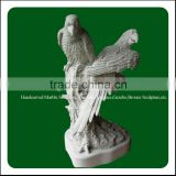 Pure hand crafts natural stone bird carving sculpture
