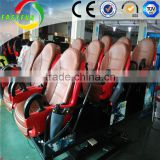 hot sale cheapest 2 seats 9d cinema and white color interactive gun game machine simulator