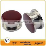 TP011124 stainless steel epoxy ear plug body piercing jewellery , body piercing jewelry ear plug
