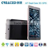 CREATED A7 Dual Core android cheap internet tablet 7 inch Bluetooth/Wifi dual sim