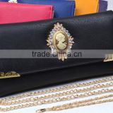 Hot fashion buckle leather wallet ,women purse alibaba china direct factory