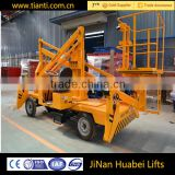 CE certification Portable mobile hydraulic telescopic cylinder car lifts for low price sale