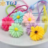 >>>2pcs/lot Sunflower girls elastic hair bands fashion baby hair rubber band kids flower hair accessories rope tie /