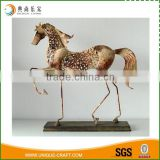 New product antique style walking horse metal home decoration                                                                                                         Supplier's Choice