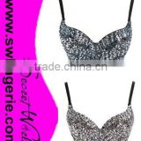 Sequin Bra, Handmade Bra, Belly Dance Bra M5268