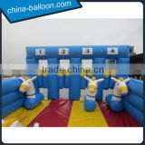 Derby inflatable horse race, horse track blue and white hot sale