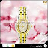 China supplier analog display alloy watch case stainless back quartz bracelet women watches 8105