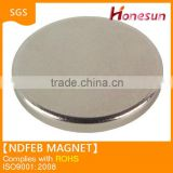 N35 permanent neodymium fridge magnet disc material new product