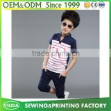 Wholesale children's polo shirt 100% cotton kids clothes children's stripe polo shirt