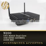 Ultal small size nano itx computer 64GB SSD fanless mini pc 12v