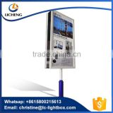 China custom outdoor use double sides aluminum structure advertising lamp pole light box