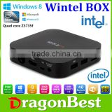 2015 With Best Price Wintel W10 Window Tv Box Dual Os Win8.1 Os Android 4.4 Free Internet Wintel W8 Mini Pc