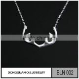 925 sterling silver jewelry rhodium Matte necklace in China