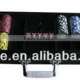 Clear Top Black Aluminum Poker Case 500