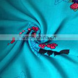 Custom printed 100% cotton muslin italian embroidery chemical lace fabric for wedding dress