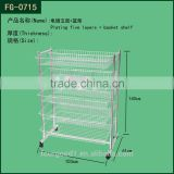 metal chrome wire fruit display shelf /display rack for supermarket