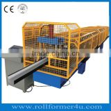 automatic Gutter Roll Forming Machine used for metal gutters production in Hebei Botou JBL