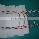 customized colourful twisted paper bag cord handle