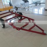 4x8 folding Utility Trailer in red